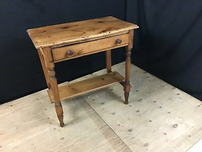 antique pine console table with drawer