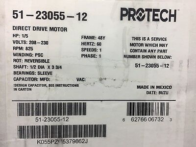 Protech Fan Motor For Rheem Hvac  Systems