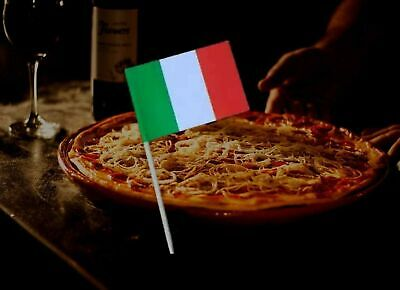 10 - 300 Cake Topper Tooth picks Italy Pizza Italian Party Flags Decoration