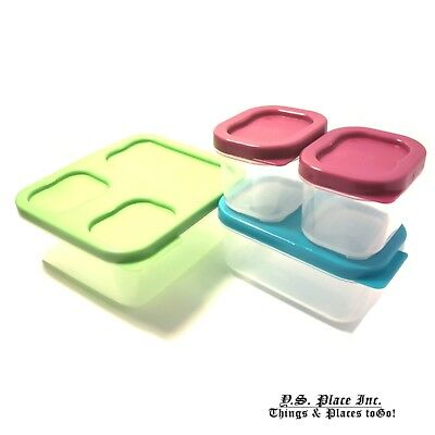 Kids Pack Meal Prep 8pc Containers Reusable Lunch Box BPA Free