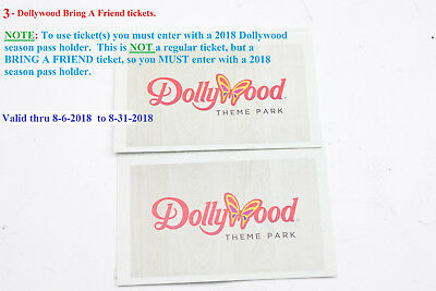 2 DOLLYWOOD BRING A Friend Tickets -Delivery Within Hours