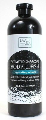 1 Dead Sea Activated Charcoal Body Wash Hydrating Retinol Well Being 33.8 oz
