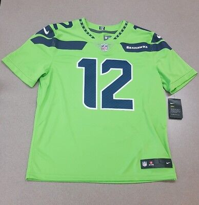 050c12985 NWT$150 Nike Seattle Seahawks #12 Fan Color Rush Limited Jersey Mens Size  Medium