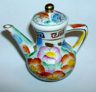 Chinese Miniature JUG (floral on white background pattern )100 mm in height
