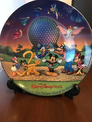 Walt Disney World Collector Plate - Celebrate the Future Hand in Hand - 2000