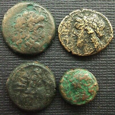 Ancient Greek; A job lot of 4 AE coins; various issues and periods