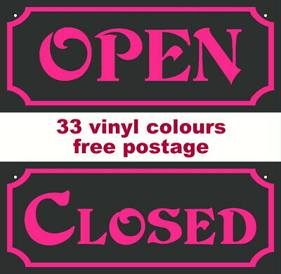 Open & Closed Sign Double Sided 3Mm Rigid Sign Shop Door/Window 200Mm X 80Mm New