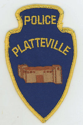 Platteville Police Department Colorado Vintage cheesecloth