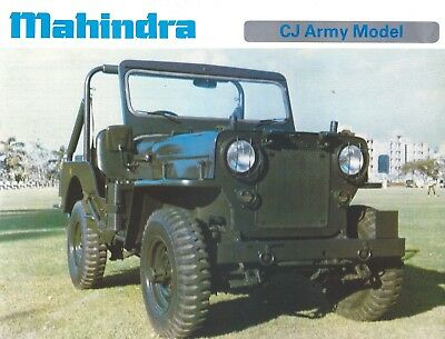 Jeep CJ, as built by Mahindra and sold in India, single sheet, two sides