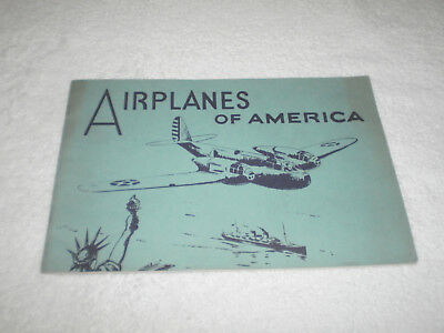 1950's New York Krug's Bakery Airplanes of America Booklet Only - Good Plus  -
