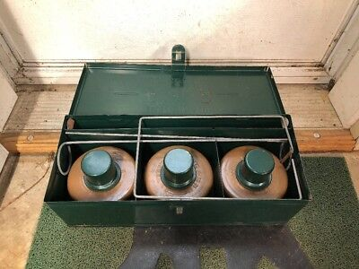 Vintage Dietz No 340 ICC Safety Kit With Green Metal Box NICE COMPLETE SET USA !