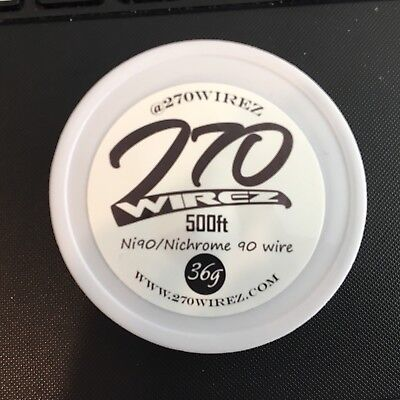 36g - 270wirez Nichrome 90 Competition Wrap Wire - 500ft (Alien, Staple, Clapton