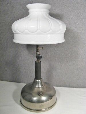 Antique Coleman Quick-Lite Gas Table Lamp with shade 5 - 3 date code ~ NICE ~