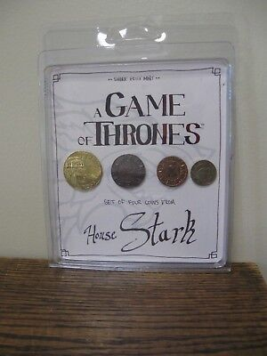 New! Game Of Thrones House Stark 4 Set COLLECTOR Coins - Shire Post Mint