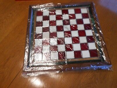 franklin mint coca cola stained glass chess set