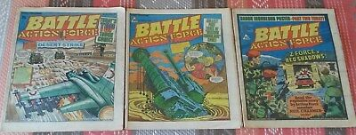 Battle Action Force Comics 10 December 1983 16 February 1984 19 May 1984 damaged