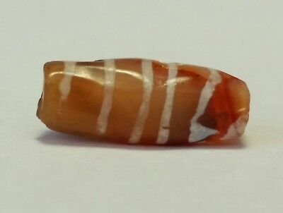 Ancient Beads, Ancient Rare Etched Carnelian Bead.