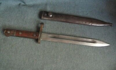 WWII Europe Mauser Rifle Bayonet w/Scabbard.
