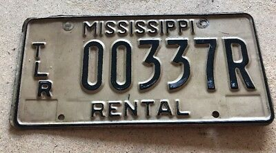 Vintage Mississippi License Plate Rental TLR Trailer No sticker