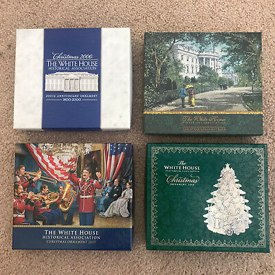Lot of 4 The White House Historical Association Christmas Ornaments