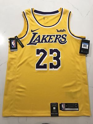 quality design ca194 ee6e4 LEBRON JAMES NIKE Lakers Swingman Basketball Jersey NWT. With/WISH Patch!!!