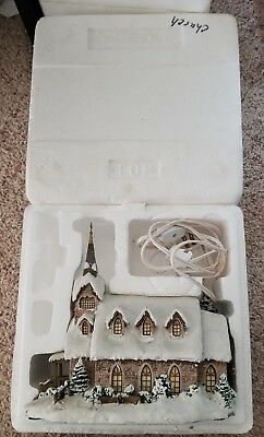 "Hawthorne Village ""Light of Hope Church"" Thomas Kinkade 2000 Christmas House"