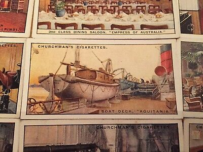"""Churchman's Cigarette Cards """"Life In A Liner"""" 42 cards"""