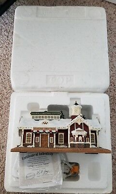 Thomas Kinkade Hawthorne Village Christmas Station New In Box With COA