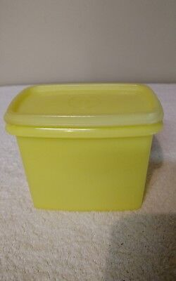 Vintage Yellow Tupperware Storage Container and Lid Storage Saver 1243-8
