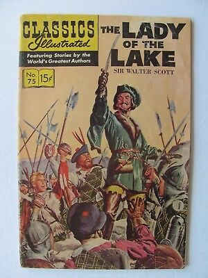 Classic Illustrated #75 HRN 165  (1950) -  The Lady of the Lake