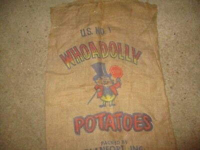 Vintage burlap potato sack - Whoa Dolly Potatoes - Blanca, Colorado
