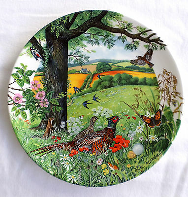 "Wedgwood Fine Bone China Plate "" Meadows and Wheatfields"" Numbered, 1987"