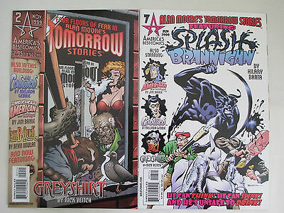 TOMORROW STORIES - Two (2) Issue Lot - #2 and #7 - by Alan Moore (Watchmen)