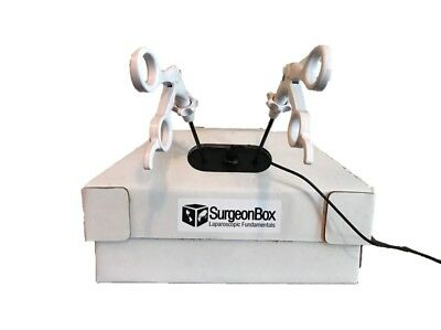 SurgeonBox Laparoscopic Surgery Simulator Trainer Box  Forceps Endoscope Camera