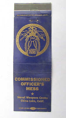 Naval Weapons Center - China Lake, California 20 Strike Military Matchbook Cover