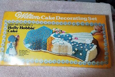 Vintage 1976 Wilton Party Pan Holly Hobbie Cake Pan With Box Lot of 2 502-194