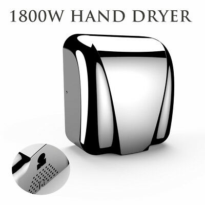 1800W High Speed Commercial Automatic Eco Heavy Duty Stainless Steel Hand Dryer