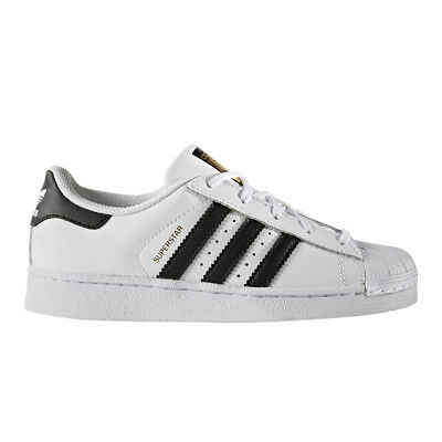 Adidas Superstar Black White BA8378 Leather Preschool KIDS Shoes