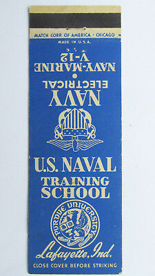 Navy Electrical Training - Lafayette, Indiana 20 Strike Military Matchbook Cover