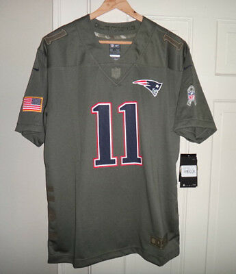 Nike Julian Edelman New England Patriots Salute to Service Game Jersey  Youth XL 0852d414f