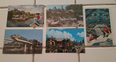 Vintage Disneyland Postcard Lot Posted And Unposted