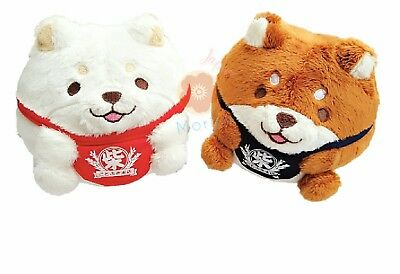 Chuken Mochi Shiba Inu Tumbling Japanese Dog Stuffed Plush Collection Set of 2pc
