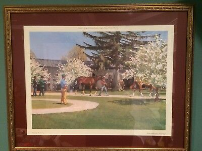 """Paddock Blossoms, Keeneland"" Lithograph by Peter Curling - Framed & Matted"