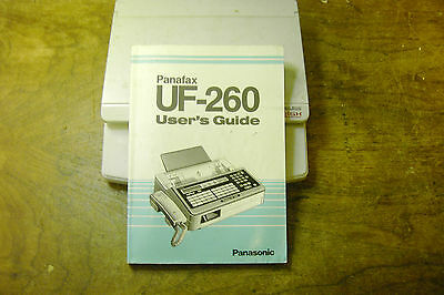 Panasonic Panafax UF-260 users guide Manual