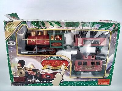 North Pole Express Christmas train set battery operated 12 tracks no sighs