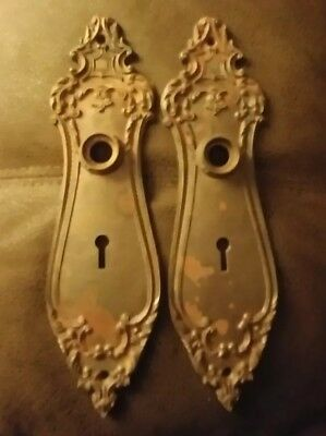 Antique door knob back plates