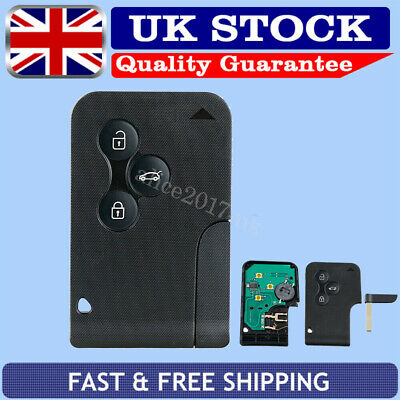 For Renault Megane Scenic Clio 3 Button Full Remote Key Card 433Mhz Complete UK