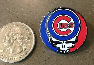 Grateful Dead Skull Pin  steal your face CHICAGO CUBS