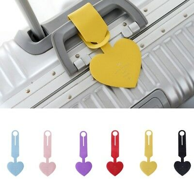 Heart Shape Travel Luggage Tags Baggage Suitcase Bag Labels Name Address