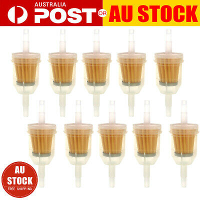"10X Inline Gas Petrol Fuel Filter 1/4"" 5/16"" Pipe Motorcycle Dirt Quad Tools AU"